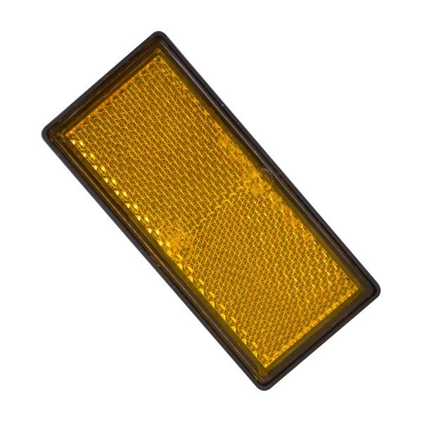 Reflector oranje 86x40mm onverpakt