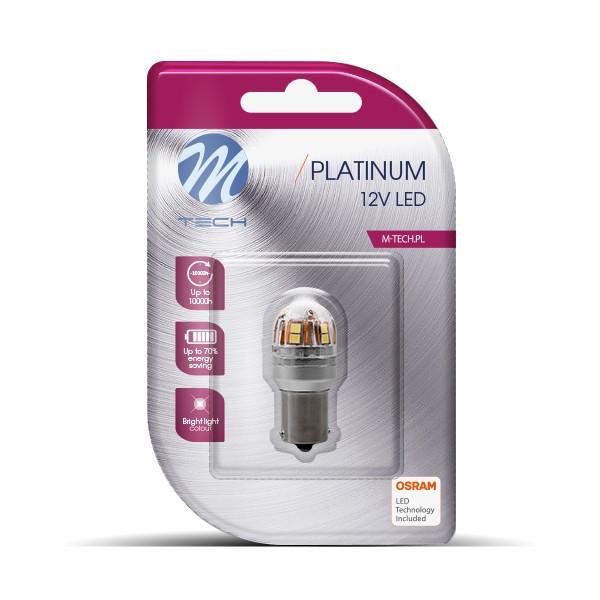 BA15S LED Lampje 12-24V 15x2835SMD Canbus Wit
