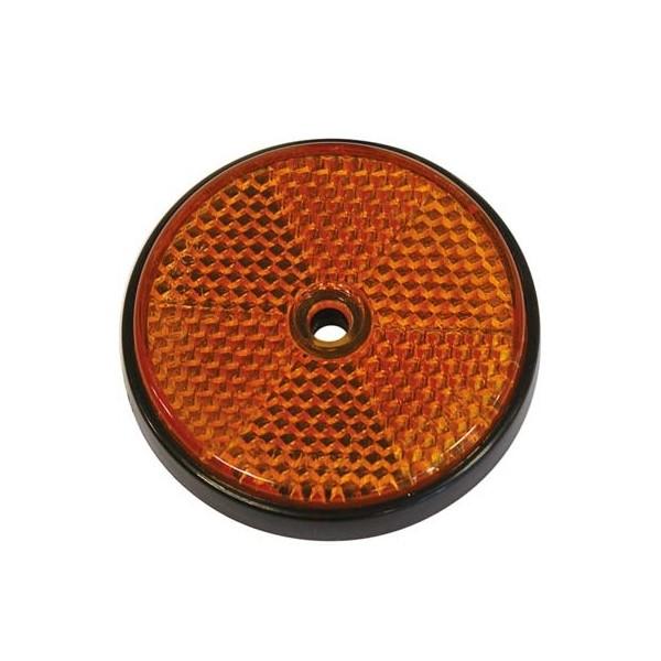 Reflectoren rond 70mm oranje 2st