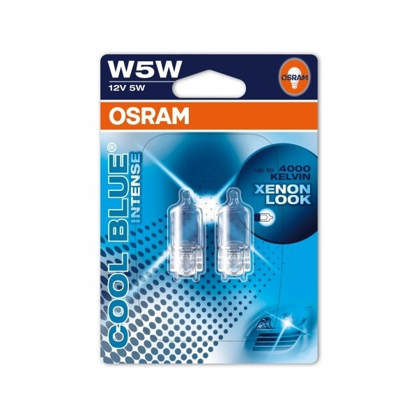 Osram Cool Blue Intense T10 W5W 12V 2pcs Xenon Look
