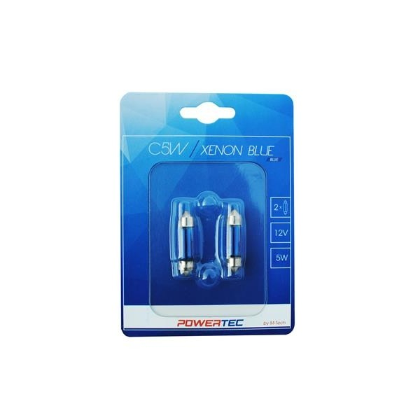 Buislampjes 36mm xenon blue 12V 5W