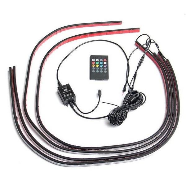 LED Undercar set RGB met afstandsbediening