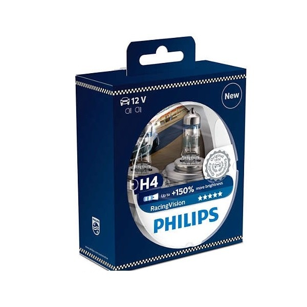Philips H4 Racing Vision +150% 12342RVS2 Doubox
