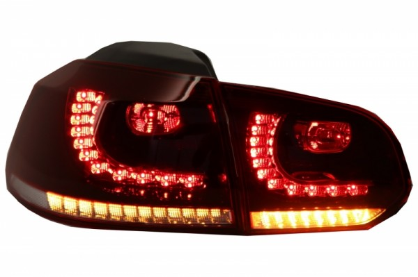 Achterlichten led VW Golf VI 10/08- R-look Dynamic LED Donker Rood