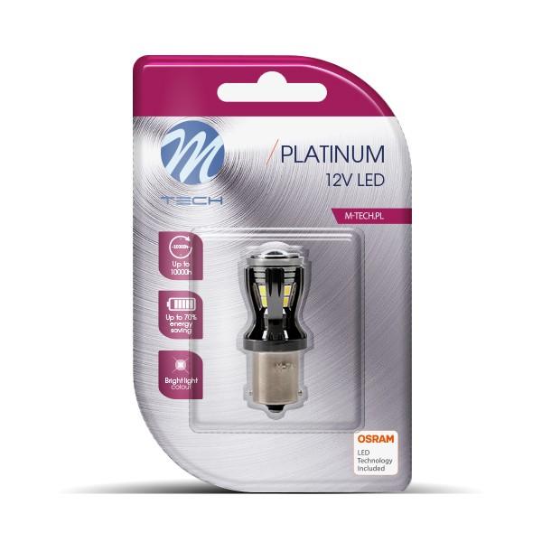 BA15S LED Lampje 12-24V 14x2835SMD Canbus Wit
