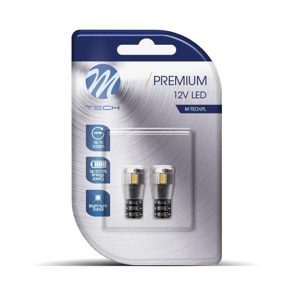 LED T10 W5W Canbus Lampjes 6xSMD5630 12V Wit 5500/6000k Premium